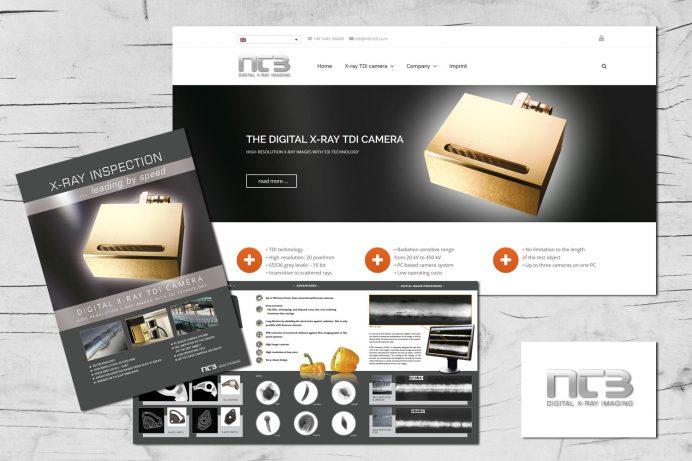 Website und Prospekte für die neue TDI Kamera