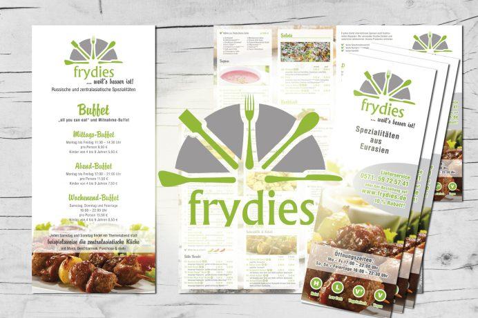 Speisekarten für Frydies Minden