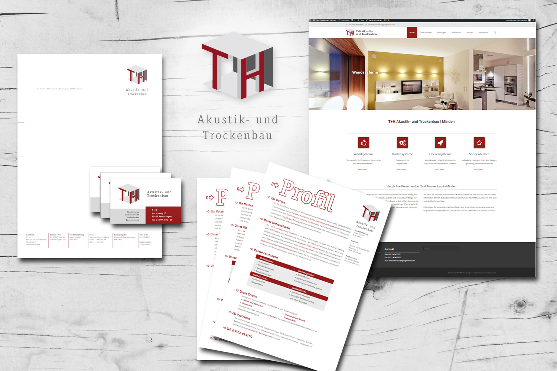neue website f r t h trockenbau minden werbeagentur mediendesign print web j rgen tr tner. Black Bedroom Furniture Sets. Home Design Ideas