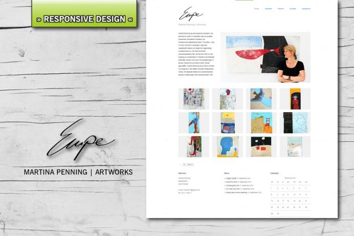 Neue Website für Martina Penning | Artworks