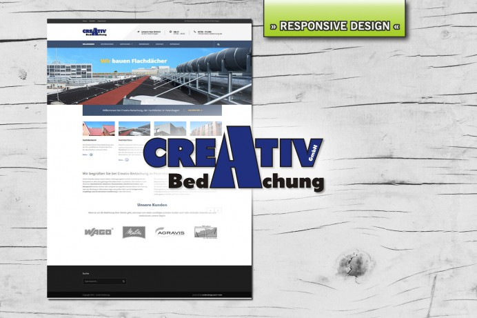 Website für Creativ-Bedachung, Petershagen