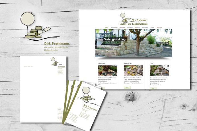 Website, Dirk Prothmann, Garten- und Landschaftsbau, Hille