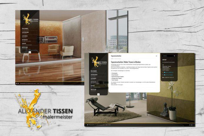 Website für Maler Alexander Tissen, Minden