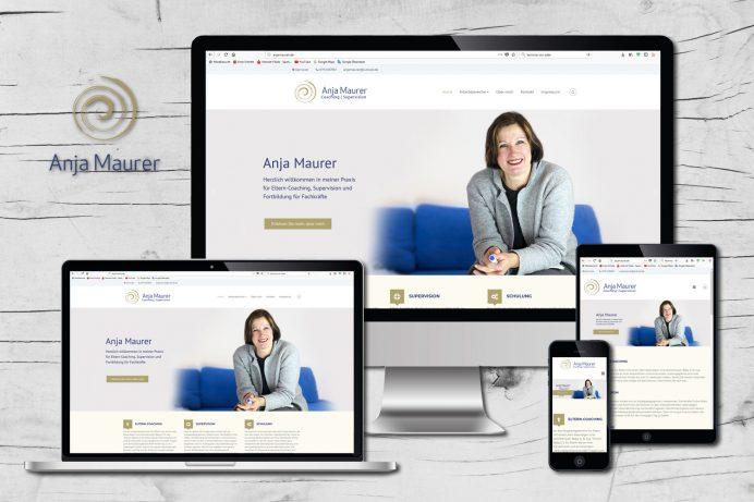 Neue Website für Anja Maurer, Hannover