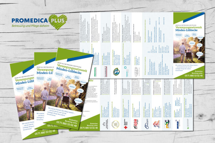 Grafikdesign, Promedica Plus | Minden/Porta Westfalica