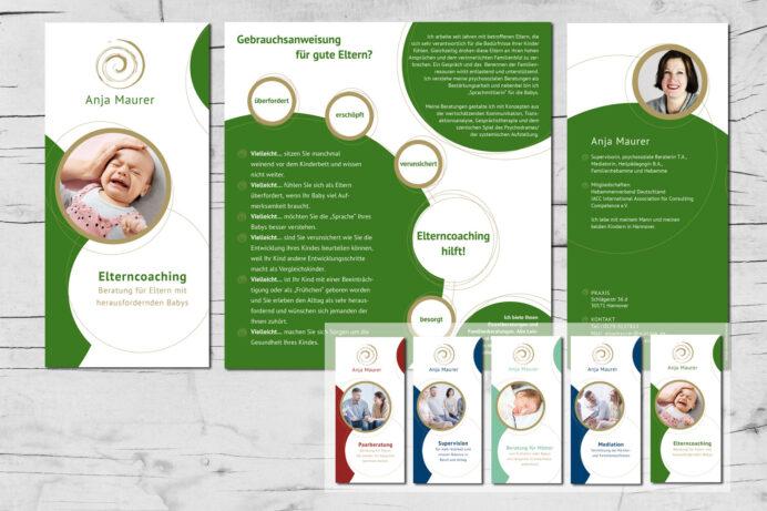 Grafikdesign | Flyer Anja Maurer | Hannover